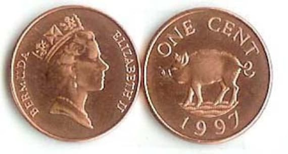 BERMUDA  1997  1 CENT  UNCIRCULATED COIN  KM44b