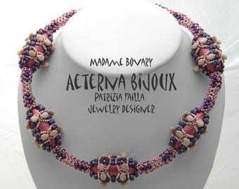 Beading tutorials and patterns Madame Bovary- beadwork, bead pattern, bead tutorial, bead instruction, beading pattern, beading instruction
