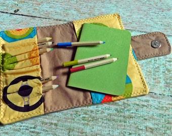 Mini Art Kit - Child Art Kit -Pencil Case - Art Portfolio - Art Kit - Homeschool Kit - Art Wallet