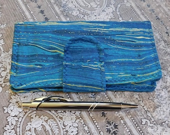 Blue Seascapes Checkbook Wallet - Checkbook Cover - Coupon Case - Cash Wallet - Fabric Wallet