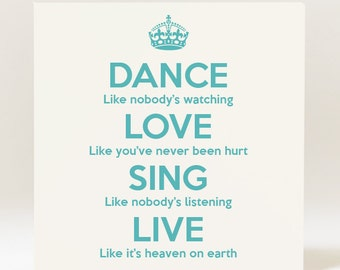 Handmade Dance Love Sing Live Card