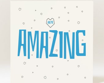 Handmade You're Amazing Card