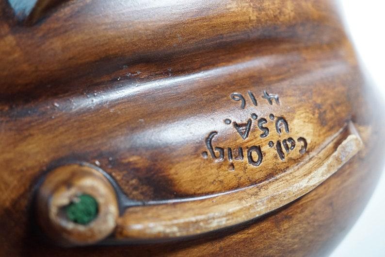 Vintage ceramic large signed California USA ashtray