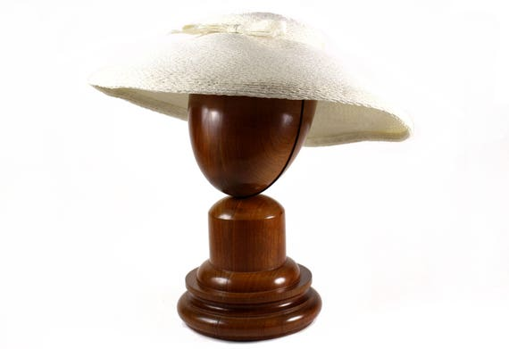 De 50 Color Sombrero Años MartíS Rafia FMartí aVintage Blanco MUVSzp
