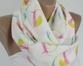 Unicorn Scarf Infinity Scarf Mothers Day Gift For Mom Gift For Girlfriend Gift For Women Gift For Her Fairytale Scarf Spring Accessories
