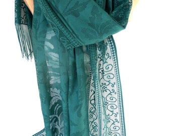Emerald Green Scarf Shawl Tulle Scarf Spring Summer Fall Scarf  Fashion Accessories Emerald Wedding Wrap Scarf Gift For Women Gift For Her