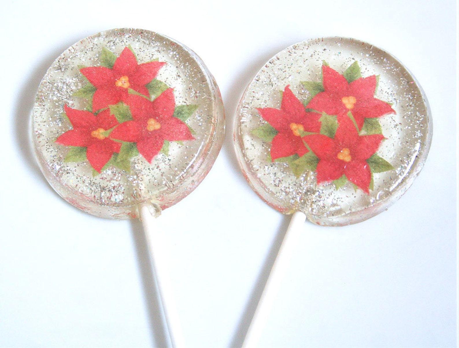 Poinsettia Lollipops