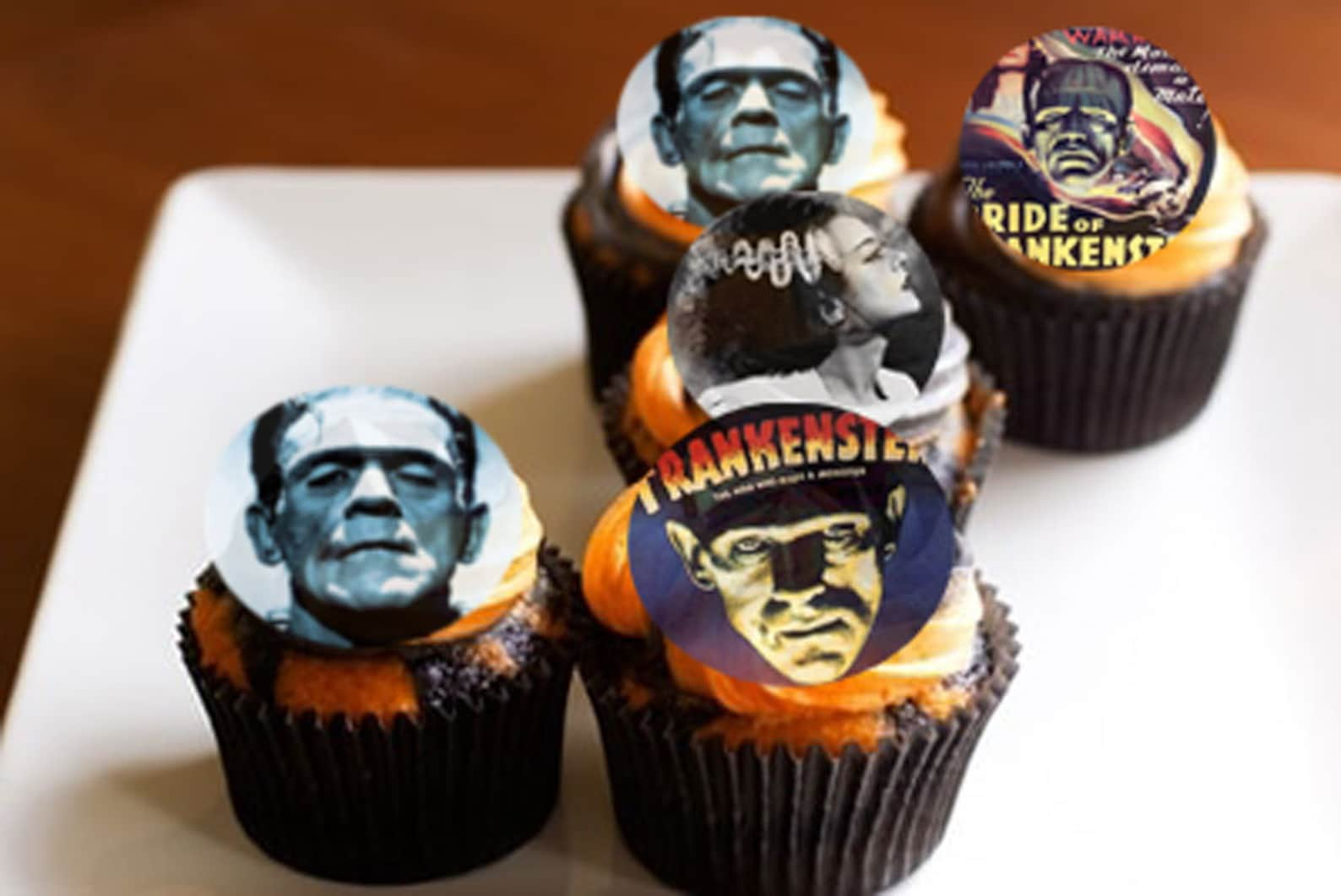 Frankenstein Edible Image Cupcake Toppers