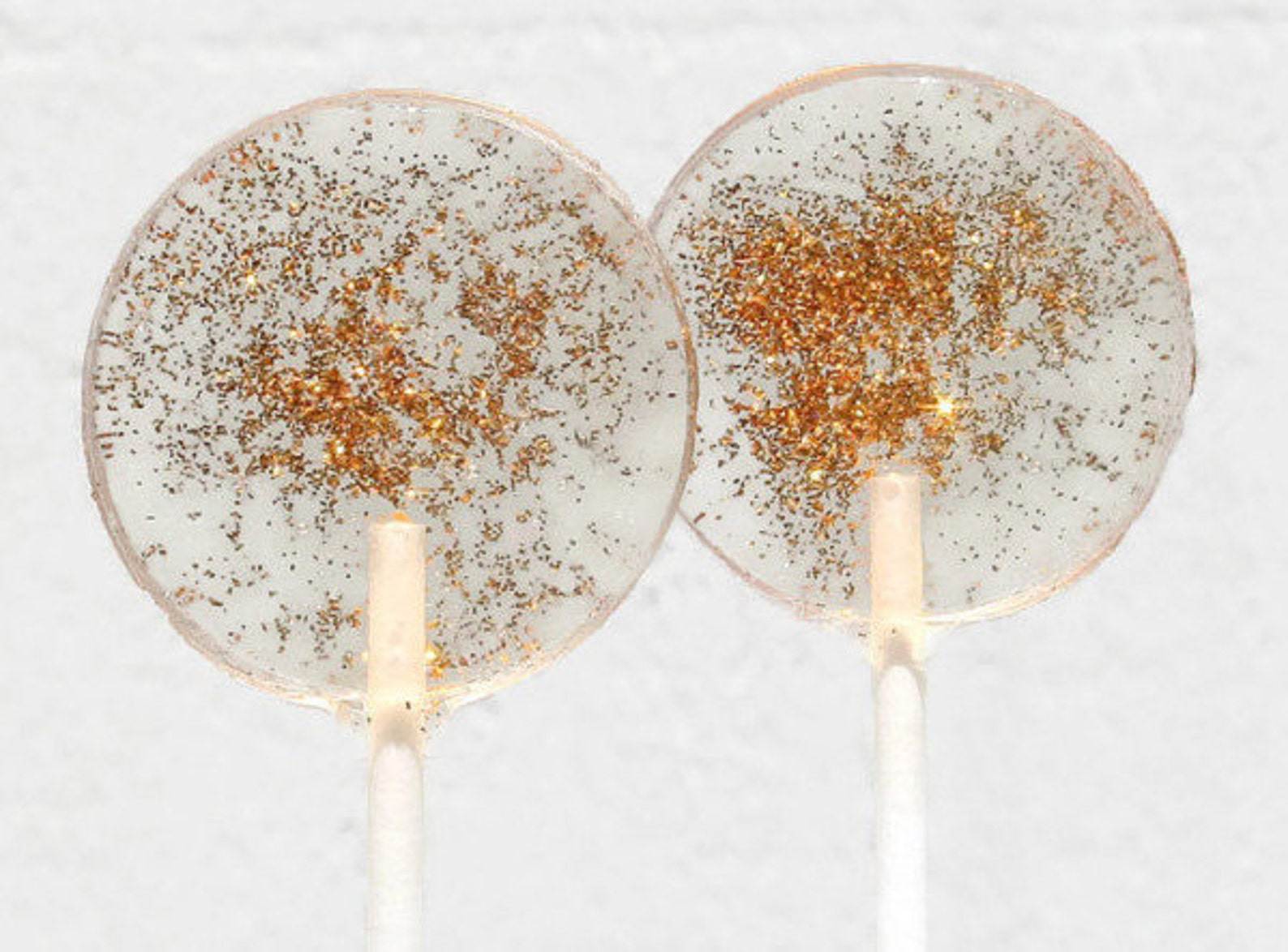 Gold Lollipops With Edible Glitter