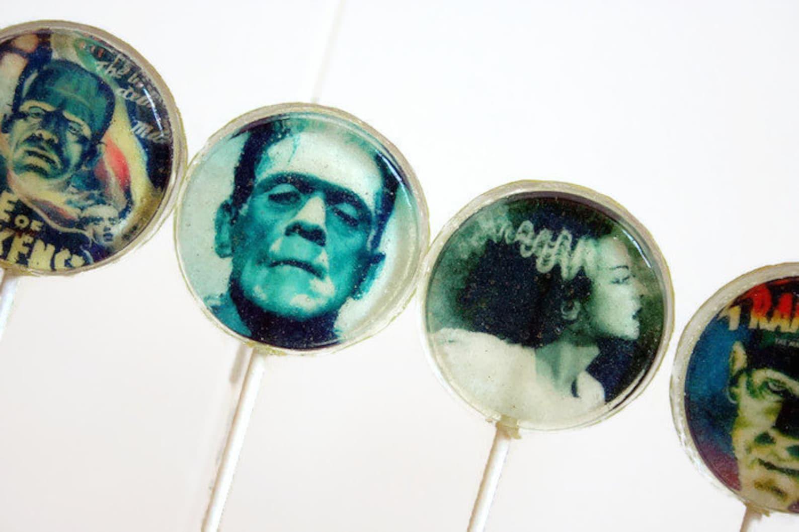 Frankenstein Lollipops