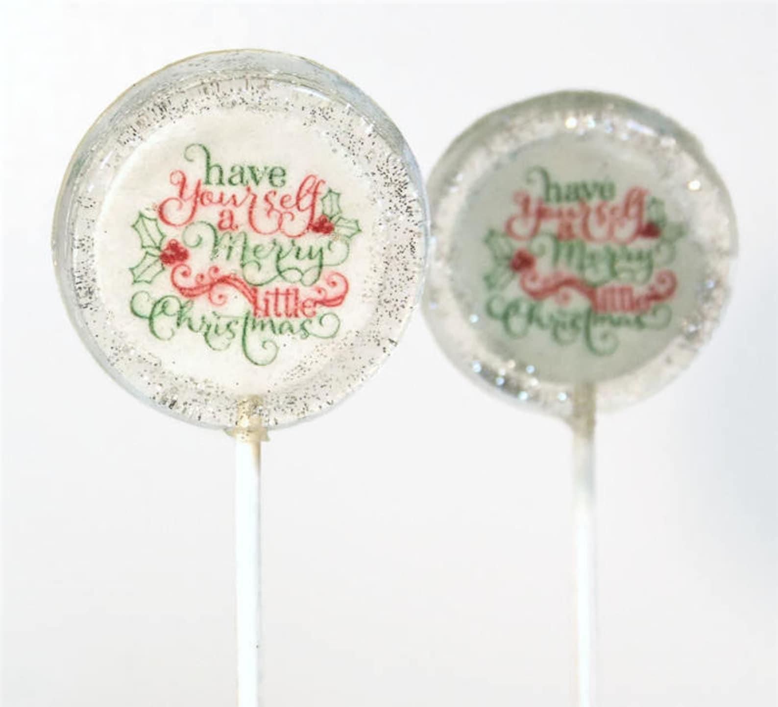 Christmas Words Lollipops