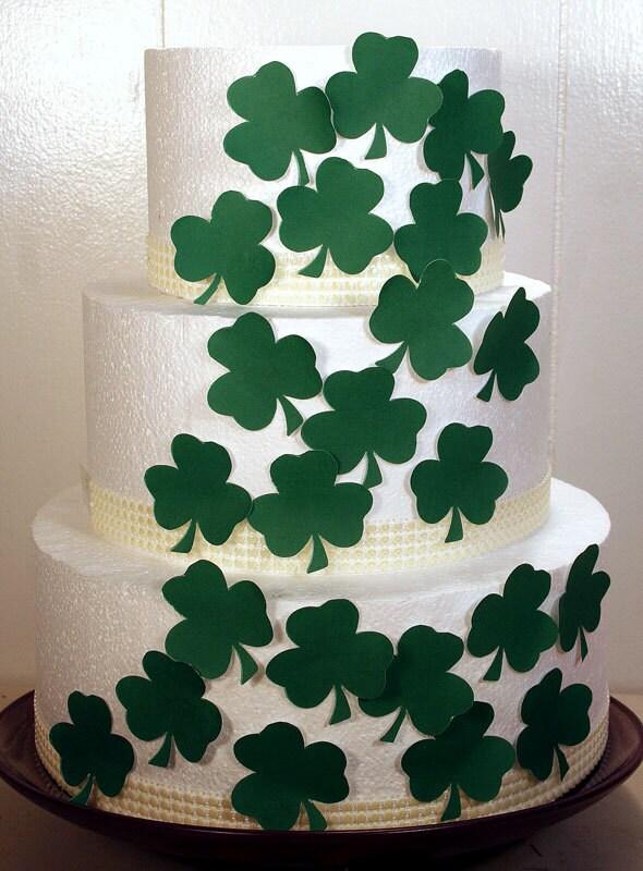 Wedding Cake Toppers Edible Shamrocks Cake Decorations Set | Etsy