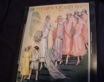Vintage Butterick sewing pattern theme 1924-25 flapper wedding