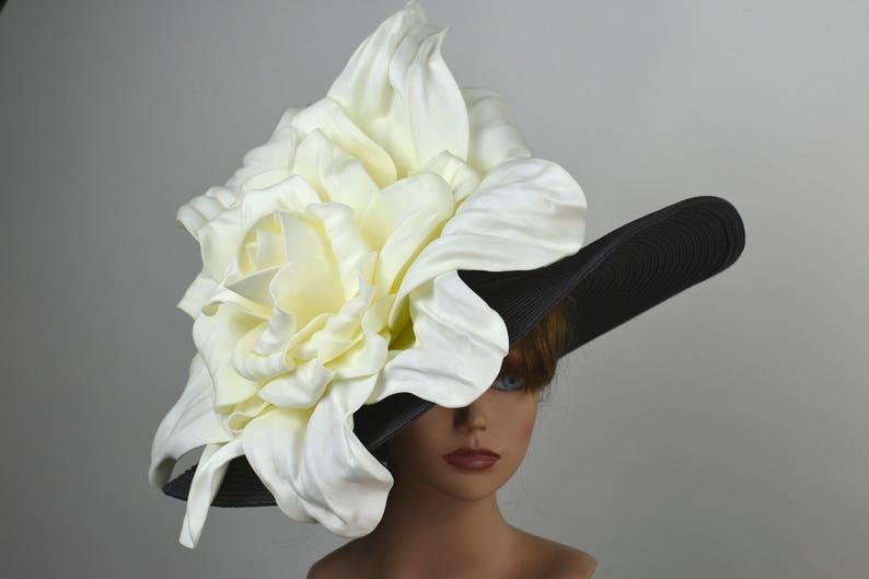 Black Wedding Hat Kentucky Derby Hat Bridal Hat Tea Party Hat Royal Hat Wedding Accessory Summer Hat Cocktail Hat