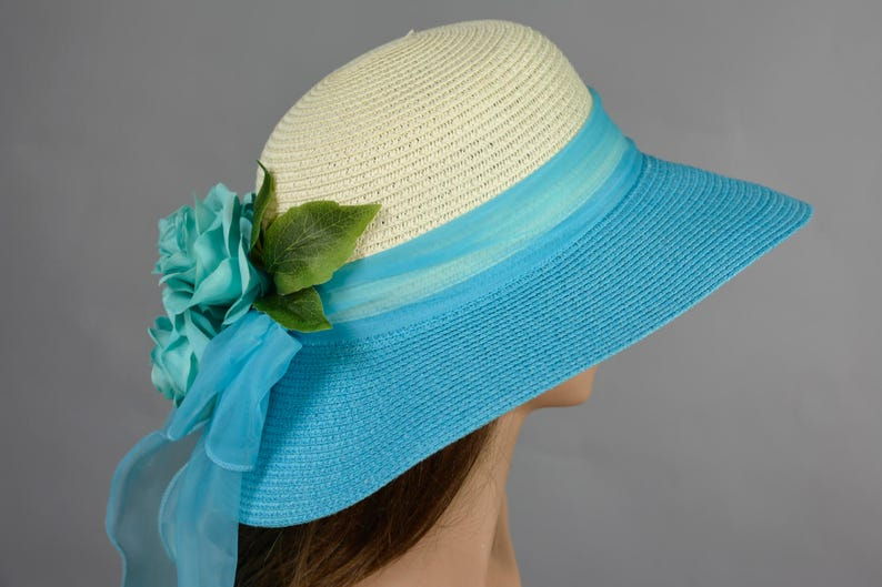 84012a6a8fc17 Turquoise Wedding Hat Kentucky Derby Hat Bridal Hat Tea Party