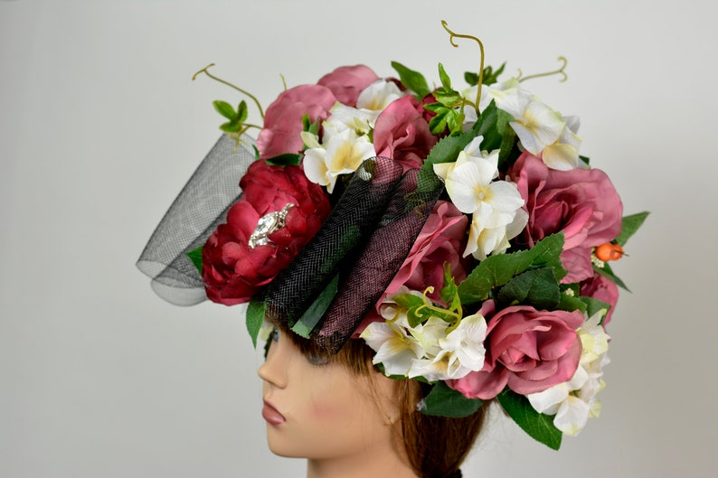 Wedding Black Hat Kentucky Derby Hat Halloowin Hat Tea Party Hat Royal Hat Wedding Accessory Summer Hat Cocktail Hat