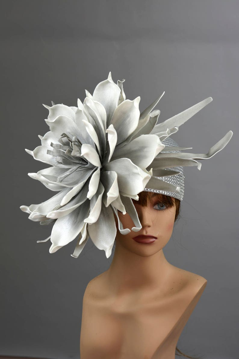 94c6d464 Silver Wedding Hat Kentucky Derby Hat Bridal Hat Tea Party Hat | Etsy