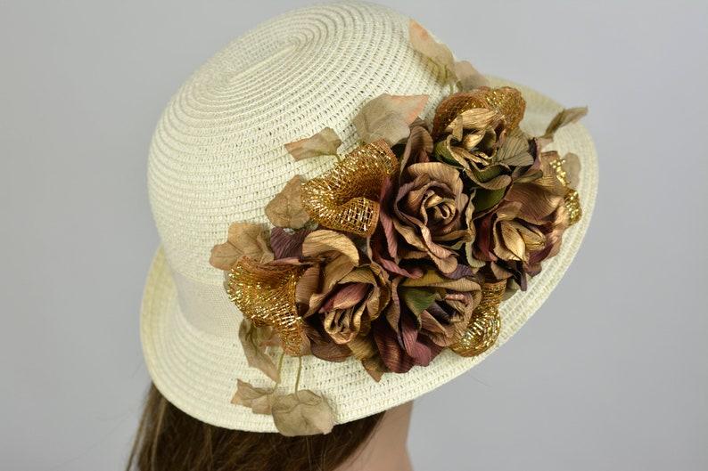 ce95e2960a890 Woman Wedding Hat Kentucky Derby Hat Fascinator Wedding