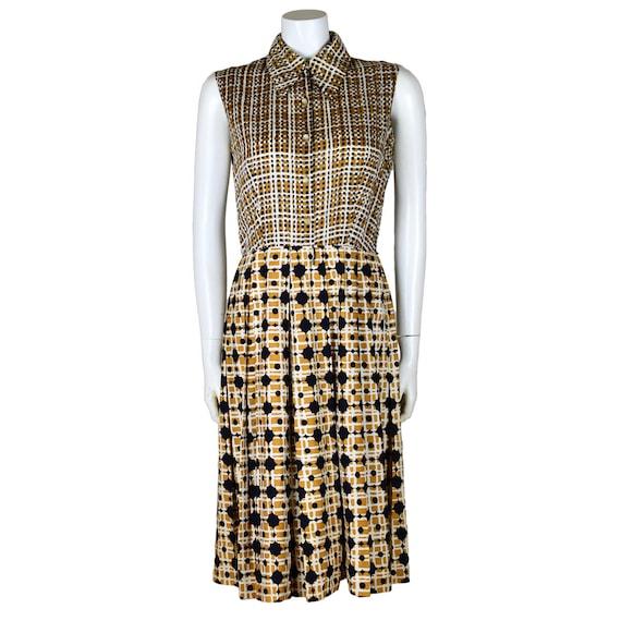 Vintage Malcolm Starr Printed Summer Dress Suit 19