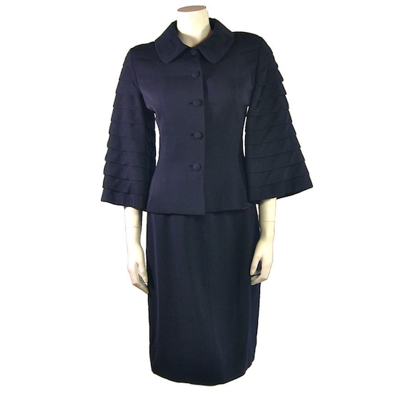 Vintage 1940s Lilli Ann Suit in Navy Blue