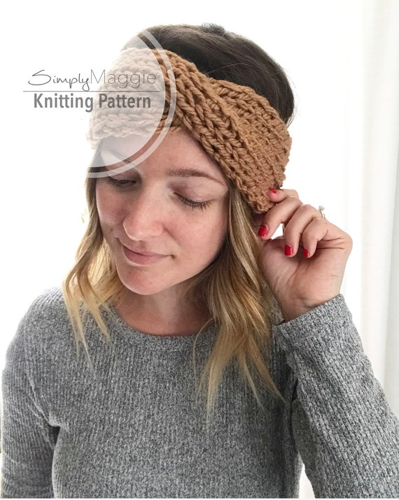 Knitting Pattern The Coastal Turban Knit Turban Headband Etsy