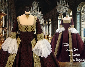 Regal Isabella.Venice ball dress Marie Antoinette Versailles Rococo.Colonial Georgian 18thc . Fully Corseted..