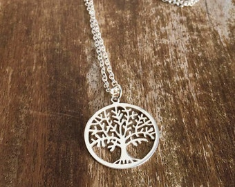 SALE-Tree of Life| Sterling Silver Necklace|  Modern Pendant Necklace| gift| Nature Lover