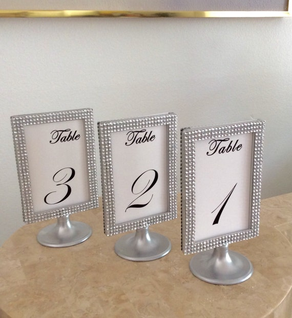 10 Silver Bling Silver Pedestal Display Photo Frames 4x6 Two   Etsy