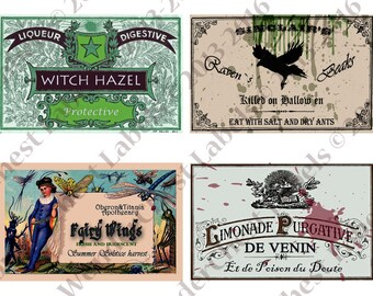 Witch Apothecary Labels 4 x 3 6 potion ingredients ...