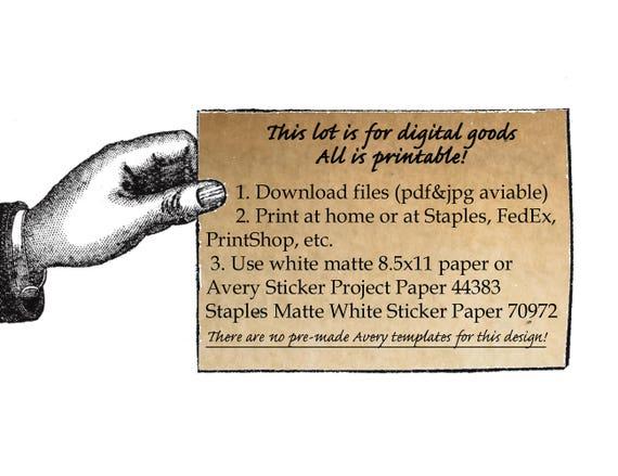 Halloween 21 Printable Potion Labels 25x13 Party Decor