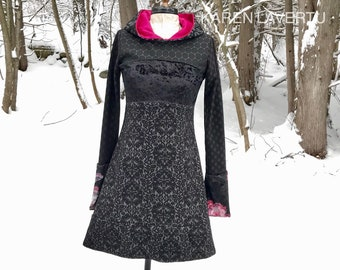 Forest Glamour Hoody Dress SIZE SMALL