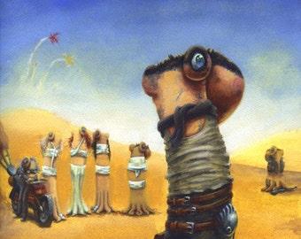 Furiosa Original Gouache Painting Octopus Art Mad Max Fury Road