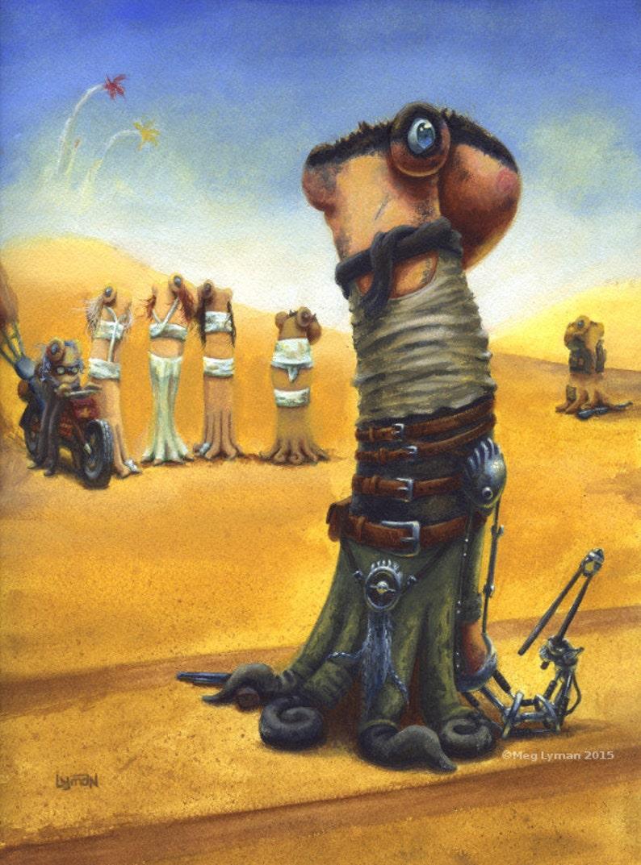 Furiosa Original Gouache Painting Octopus Art Mad Max Fury image 0