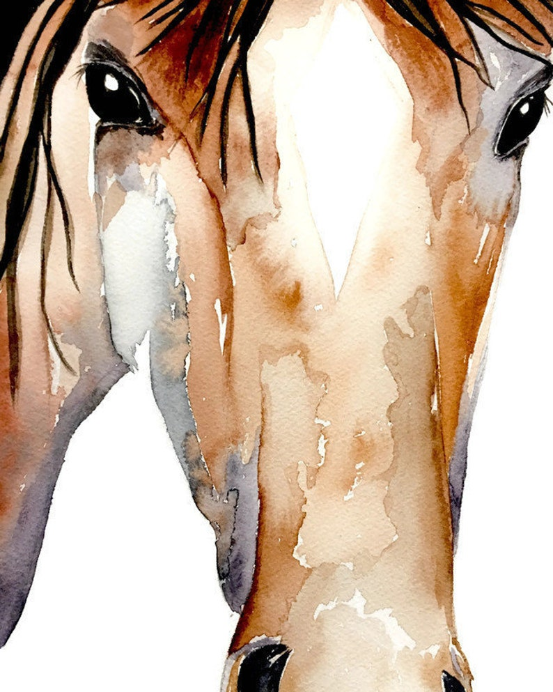 Card  Horse Watercolor image 0