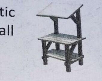 O Scale Quarter Scale Dollhouse Miniature Rustic Market Stall Kit 1:48