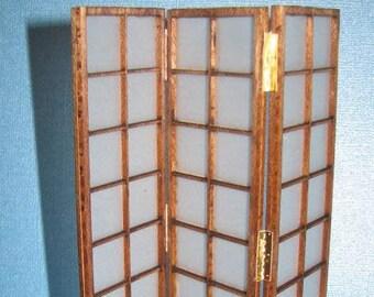 Dollhouse Miniature Japanese Shoji Screen Kit - 1:12 Scale