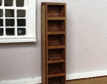 Dollhouse Miniature Quarter Scale Cassin Style Narrow Bookcase KIT -- 1:48
