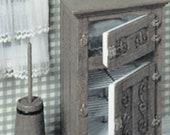 Dollhouse Miniature Ice Box and Butter Churn Kit from Chrysnbon - 1 12 Scale