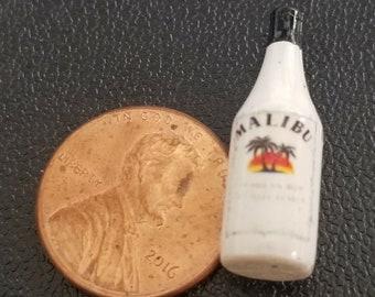 Dollhouse Miniature Bottle of Malibu Rum - 1:12 Scale