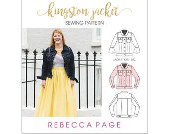 The Kingston - A Denim Jacket PDF Sewing Pattern - XXS to 5XL, five sleeve options, optional side seam pockets