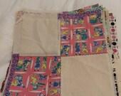 Vintage Fabric 1930s 1940s 1950s Four Square Quilt Squares Vintage Fabric Lot 25 Pieces