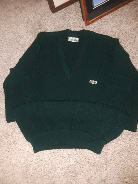 Vintage lacoste sweater chemise lacoste cable knit