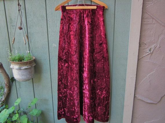 Halloween velvet Skirt/Vintage Crushed Velvet Skir