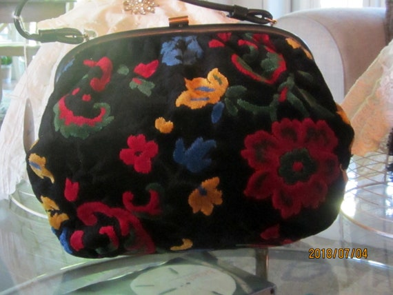1950s Carpet Bag Purse/ Vintage 1950's Carpet Bag/