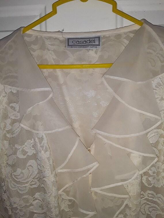 Vintage 1980s Romantic Lace Blouse / Casadei / 198
