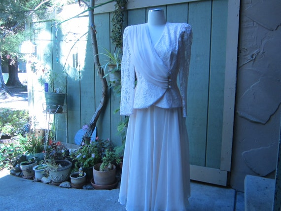 Vintage Michael Marcella Ltd. Lace & Chiffon Skirt