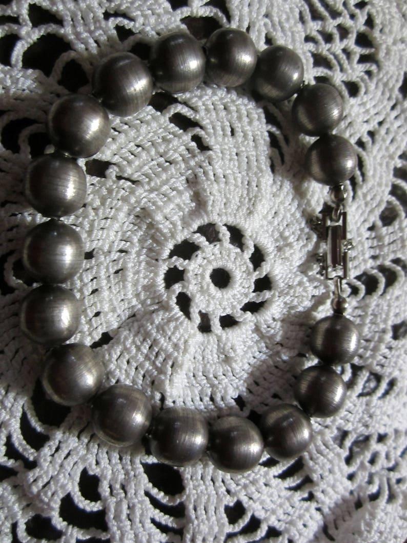 Vintage Silver Stainless Steel Charm BraceletTurned Steel Balls 17 Silver Balls Charm Bracelet1960s Charm Bracelet