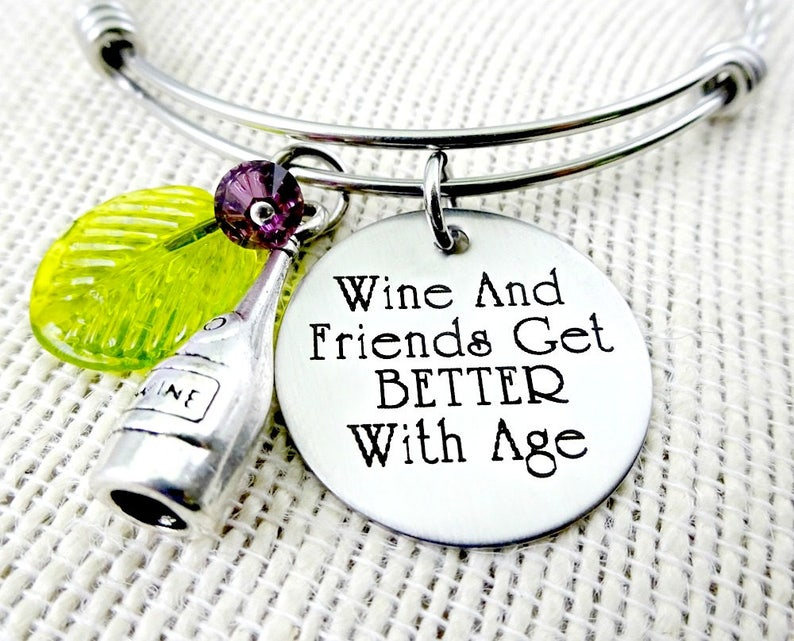 Wine Bracelet   Wine and Friends Get Better With Age  Wine image 0