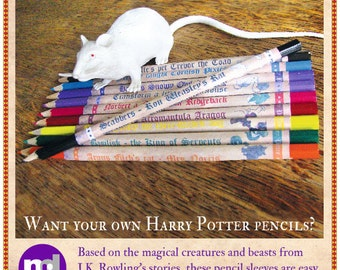 Harry Potter Pencils - Make your own!