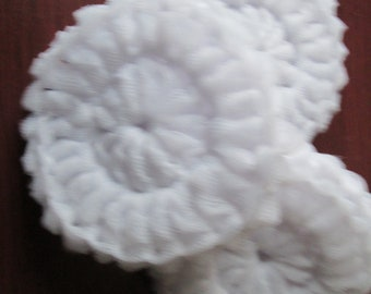 Set of 3 crocheted White  scrubbies